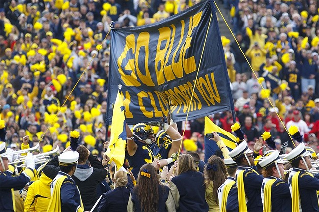 Touch the Banner: Visitors: Michigan vs. Maryland